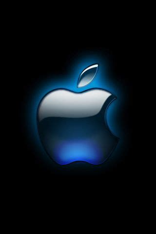black glossy apple logo iphone wallpaper hd iphone
