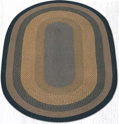 oval braided rugs 5x8 c 099 brown black charcoal oval braided rug 5x8