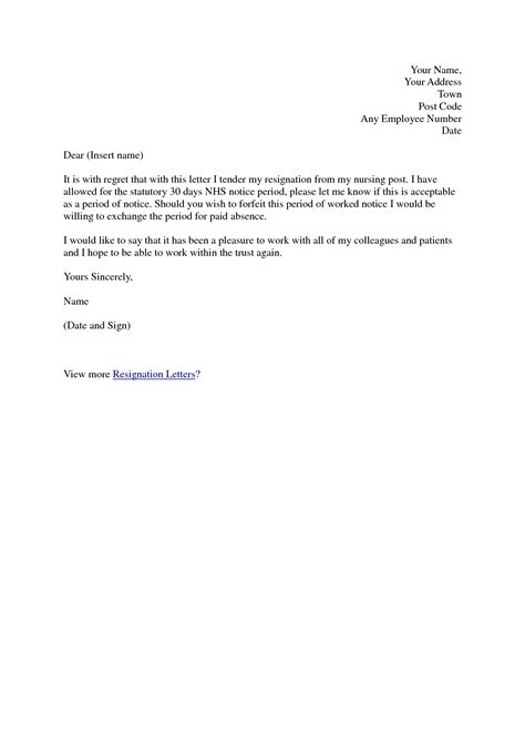Resignation Letter Template Nz by Formal Letter Of Resignation Exle