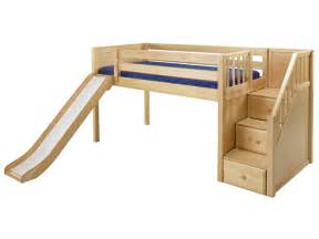 Bunk Bed With A Slide Loft Bed With Slide Home Decorating Ideas