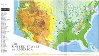 usa map with geography geography of the usa map