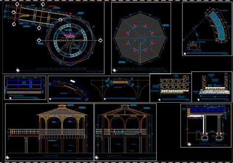 gazebo dwg planos de casas planos de construccion