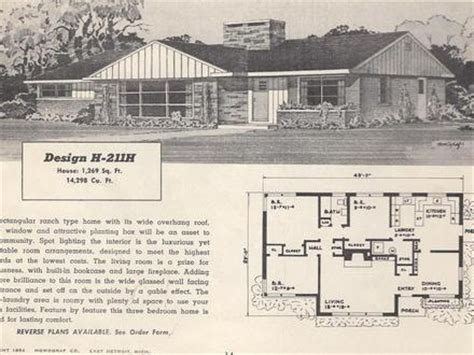 1950s ranch house plans 1950 ranch house plans
