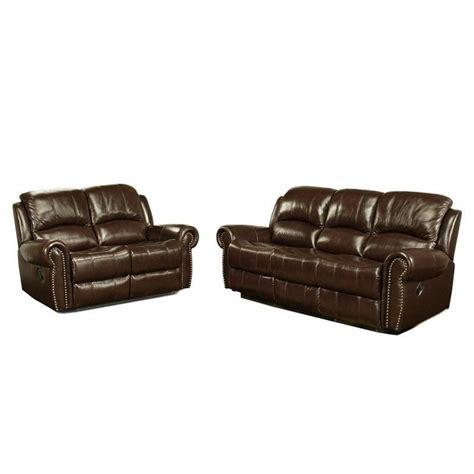 abbyson living reclining sofa abbyson living hogan leather reclining 2 piece sofa set
