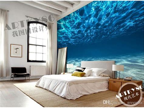 ocean decor for bedroom charming deep sea photo wallpaper custom ocean scenery
