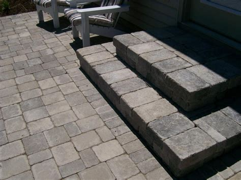 Exterior Casual Outdoor Flooring Design Using Grey Paver Patio Designs Using Pavers