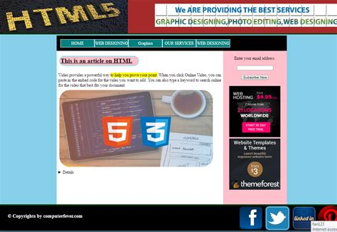 html5 css3 layout design html5 0 css3 layout