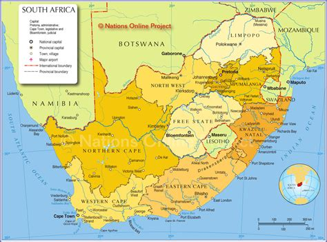 south africa map map map of south africa