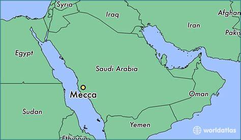 mecca map where is mecca saudi arabia mecca makkah map worldatlas