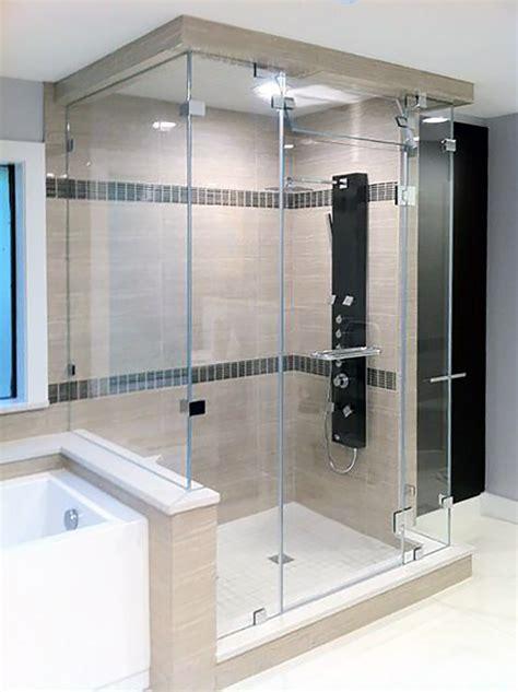 Steam Shower Enclosures Shower Doors Of Dallas Steam Shower Doors Glass