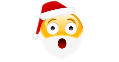 surprised santa symbols emoticons