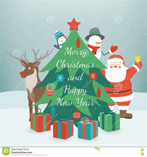 new year wishes vector greeting and new year card merry and