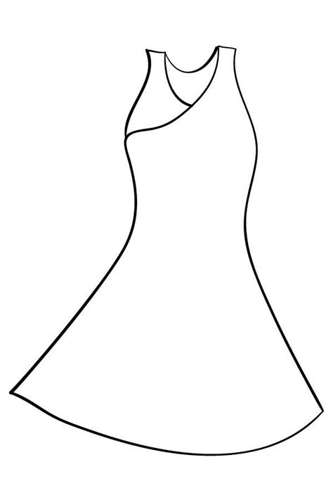 Coloring Page Dress by Dress Coloring Pages Printable Coloring Image