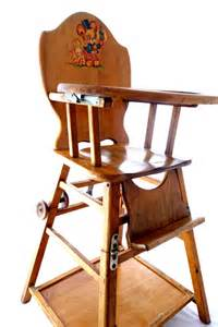 Antique High Chair Desk Vintage Baby High Chair Converts To Low Play Chair Desk On