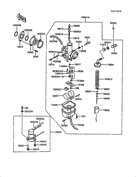 kawasaki 220 bayou carburetor diagram wiring diagram kawasaki bayou 185 kawasaki bayou 185