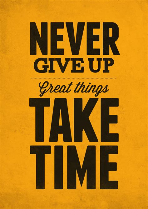 never give up never give up print by neuegraphic