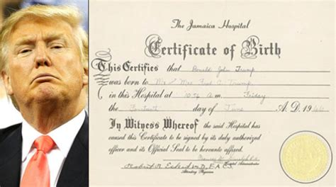 donald refuses to release form birth