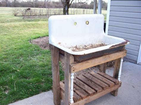 diy potting bench with sink 1000 images about garden sink potting bench on