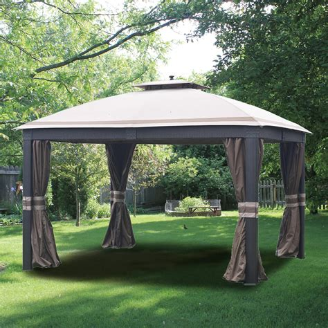 Patio Furniture Gazebo Best Allen Roth Gazebo 81 In Patio Furniture Set Ideas With Allen Roth Gazebo Door