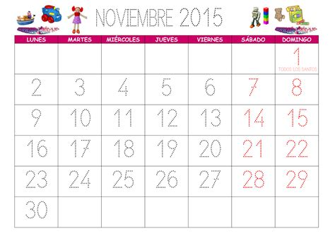 Calendario N Oviembre 2015 Calendario Noviembre 2015