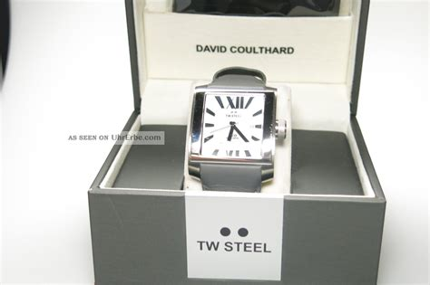 Festina Chronograph 3002 by Tw Steel Uhr Herren Grau Leder Twce3002 Np319 Anschauen