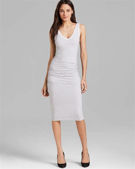 Striper White lyst tank dress stripe in white
