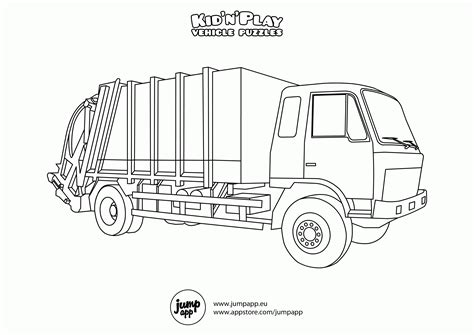 coloring pages mail truck garbage truck coloring pages free coloring home