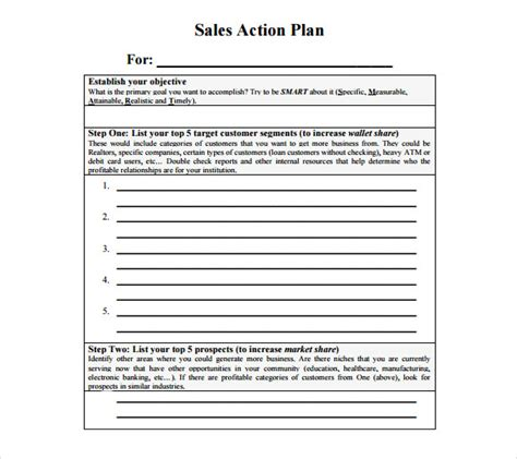 10 Sales Plan Sles Sle Templates Sales Plan Template