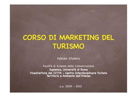 dispensa marketing marketing turismo e prodotto turistico dispense
