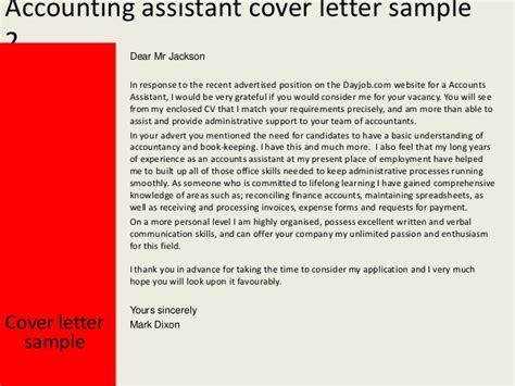 Cover Letter Accounting Associate Accounting Assistant Cover Letter