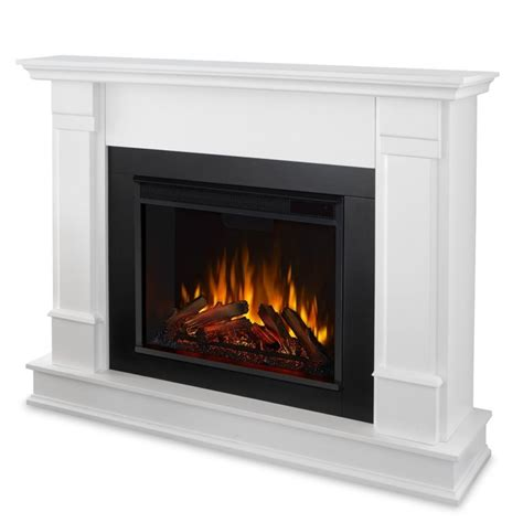real flame silverton electric fireplace  white finish