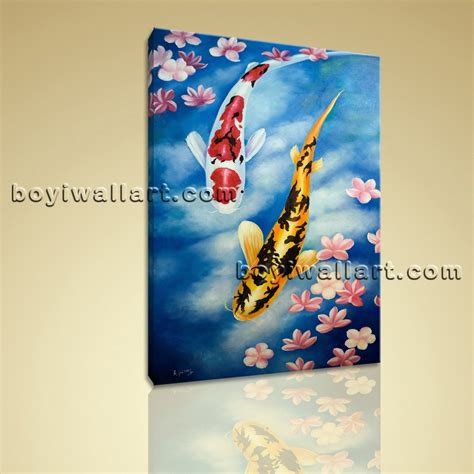 boat pictures feng shui large giclee prints on canvas feng shui zen wall art koi