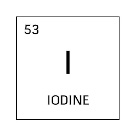 Iodine Periodic Table by Black And White Element Cell For Iodine Science Notes