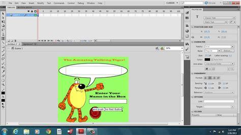 tutorial flash programming hello world computer program with adobe flash cs5 5 youtube