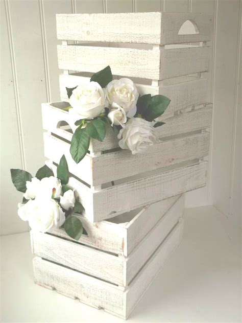 Wedding Card Crate by 3 Vintage Style Rustic Wood Storage Crates Boxes Wedding