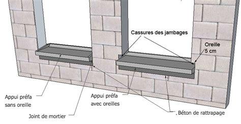 Fissure Dalle Béton 3645 by Comment Poser Appui Fenetre Prefabrique La R 233 Ponse Est