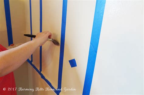 How To Paint Stripes On A Wall Harmony Hills Home And Garden