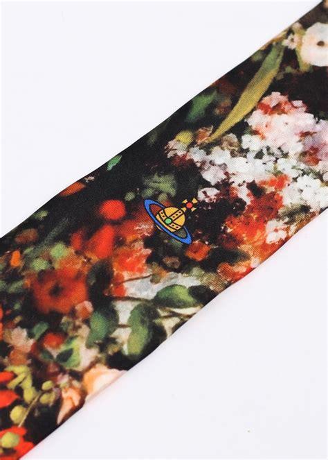 flower pattern tie vivienne westwood flower pattern tie black multi