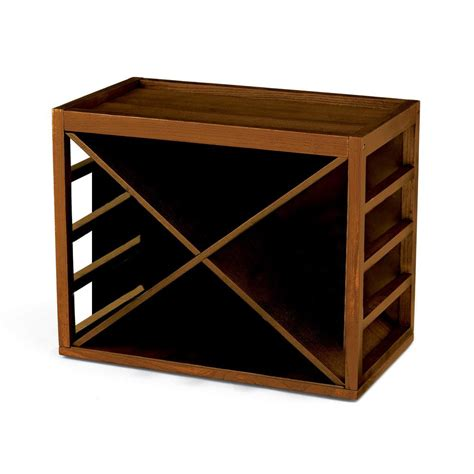 Stack And Rack Storage Cubes by Wine Enthusiast 12 Bottle X Cube Stack Wine Rack In Walnut