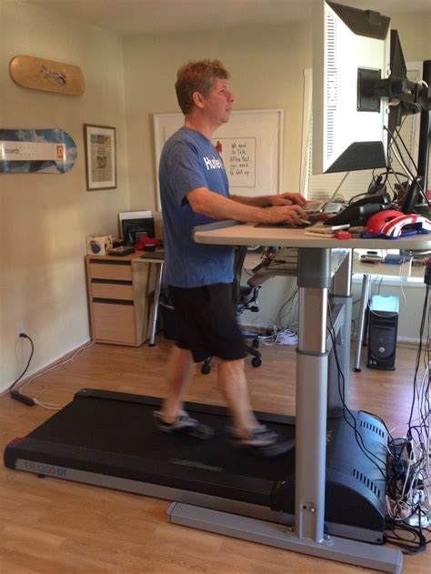 convert treadmill to walking desk my with a treadmill desk e mail and browsing at 2