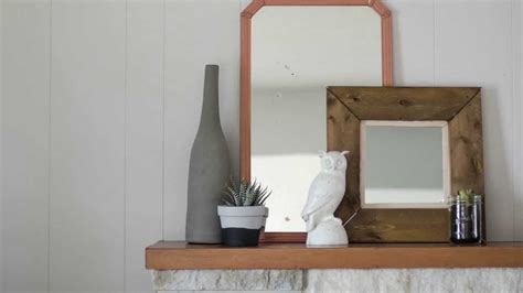 diy rustic framed pallet wood mirror with colleen youtube