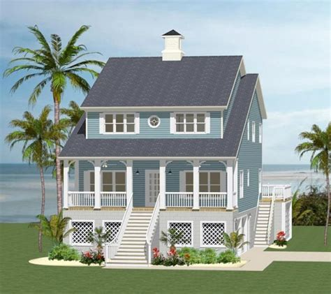 3 Story Beach House Plans by Front Elevation