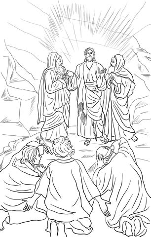 coloriage la transfiguration 233 sus coloriages 224