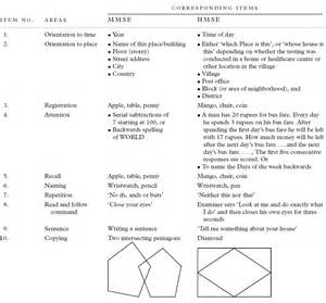 Mini mental exam form printable pictures to pin on pinterest