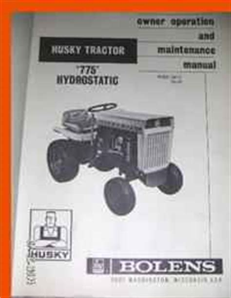 Used Farm Tractors For Sale Manual For Bolens 775 Hyd