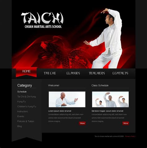 website templates for karate martial arts website template web design templates