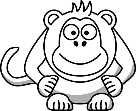 monkey clipart coloring page monkey clip art black and white clipart panda free