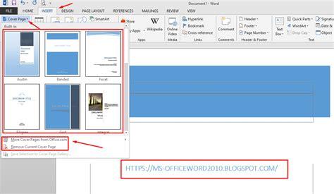 bagaimana cara membuat halaman di word 2013 bagaimana cara membuat cover dengan cepat pada ms word