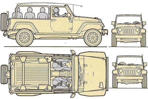 4 door jeep drawing tanker trailer diagram tanker free engine image for user