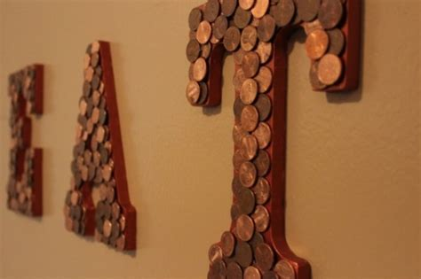 Eye catching Home Decoration Ideas Using Pennies